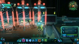 The player first injects potential infected with a solution that will detect if they're too far gone.