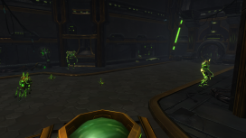 The Exo-Lab under the Commune changes enemies to Eldan-related spawns to sell that the content is related to that faction and not the Pell.  The player fights their way through while chasing Artemis Zin.