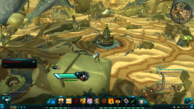 This vista reveals the the great spire over the Flamedancer Mainframe, letting the player plan their path through its content.