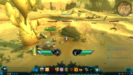 One of the sidequests requires the player to fight through giant scorpions (scrabs) to help Pilot Tenzo salvage his ship, the Kohra.