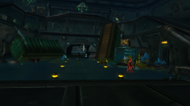 Entering the Novus reveals dozens of rogue robots fighting to protect their treasure.