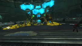 The AI's confrontation room, which the player is eager to reach after being taunted by the AI the entire time they traveled through the ship.