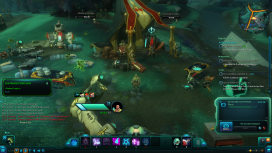 The player enters the outpost, spawned with sick soldiers