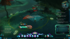Right at the start, the player has to defend the outpost from waves of attacking wolves.  Ambient wolf attacks continue through the quest line.